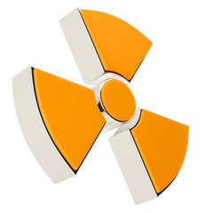 Nuclear power radiation sign isolated