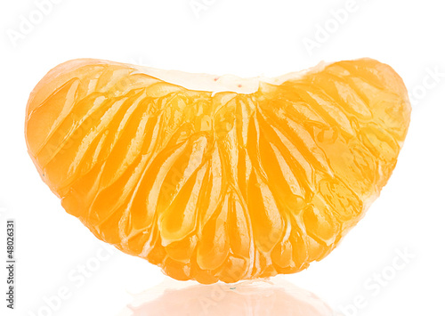 Ripe sweet tangerine  clove, isolated on white