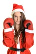 Christmas boxing woman