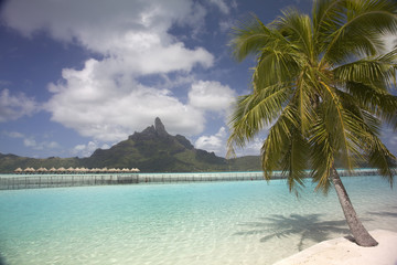 View towards Mount Otemanu, Bora Bora, French Polynesia.
