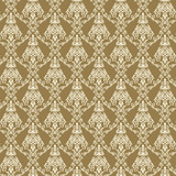 Seamless Damask Wallpaper 4 Beige Color
