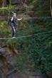 Ragazza su ponte Tibetano - Val Susa