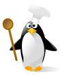 pinguino cuoco vector