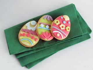 Bizcochos de huevo de pascua.