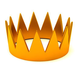 Gold crown, 3d