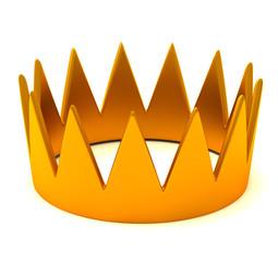 Gold crown, 3d