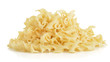 Heap of fusilli pasta isolated on white background