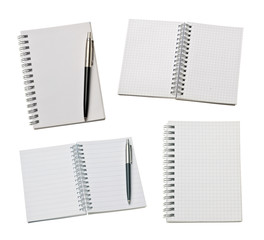 various blank notebook paper office business