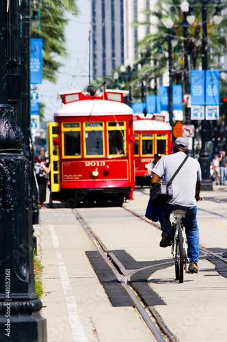 Leinwandbild Motiv Tramway Nouvelle Orléans