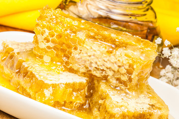 honeycombs with fresh honey