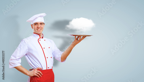 Portrait of a cook