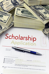 Scholarship application form and money