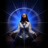 Business woman meditating