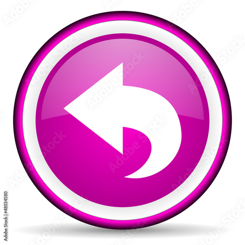 back violet glossy icon on white background