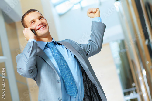 portrait of happy smiling young businesman