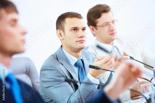 At seminar or conference
