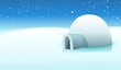 Igloo And Polar Icy Background - 48035938