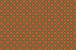 Seamless Brown Background with Red and Green Pattern