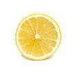 Leinwanddruck Bild - Zitronenscheibe