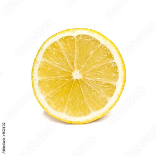 Leinwanddruck Bild Zitronenscheibe