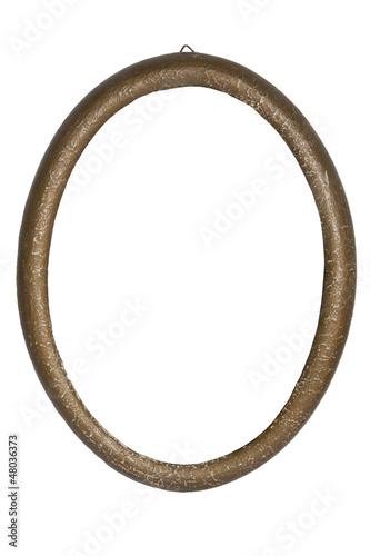 Antiker Bilderrahmen Oval Freigestellt © lynn2511
