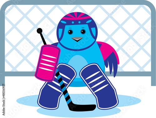 Bird is a hockey goalkeepe