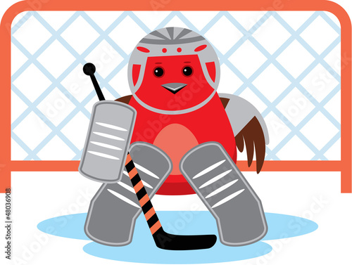 Bird is a hockey goalkeepe