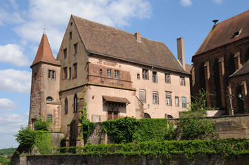 Bas Rhin, old episcopal castle in Saverne