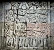 Stone craft in Candi Penataran temple in Blitar, east Java,  Id