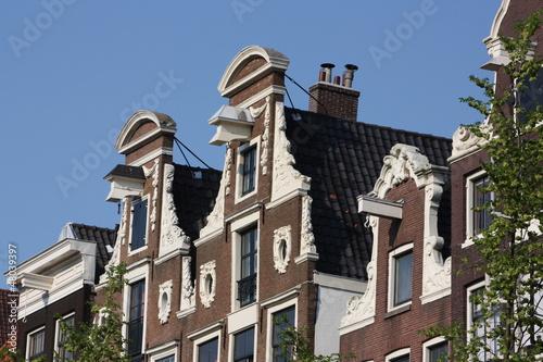 maisons à pignons à Amsterdam