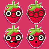 Smart Strawberry with Eyeglasses