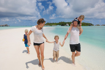 happy family on vacation