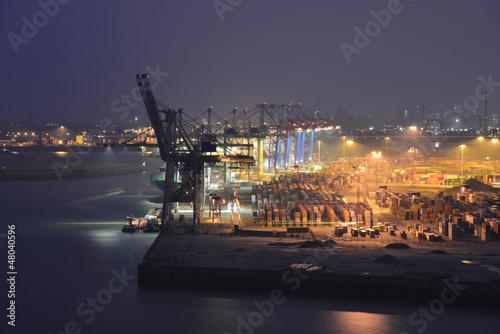 Leinwanddruck Bild Container, Export, Import, Terminal, Hamburger Hafen, Hamburg