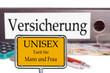 Unisex Versicherung