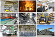 Collage von Industriepanoramen // industrial production inside