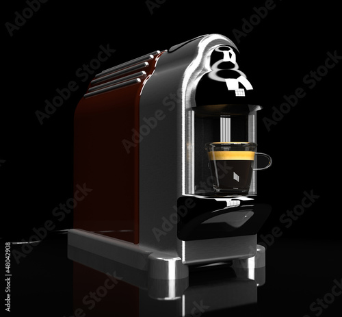 quick espresso machine 3d illustration