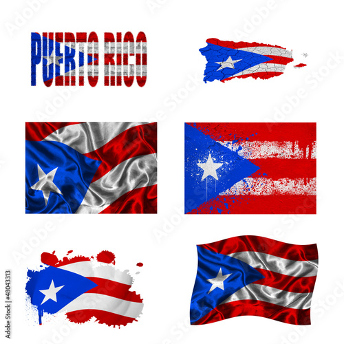 Puerto Rico flag collage