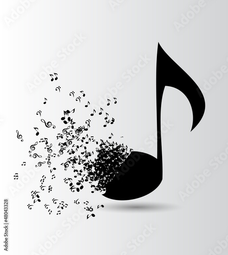 Fridge magnet Abstract music background vector illustration for your design