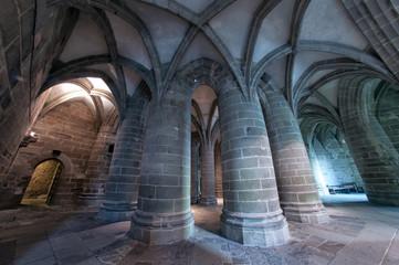 Abbaye Du Mont-Saint-Michel - Crypte Des Gros Piliers