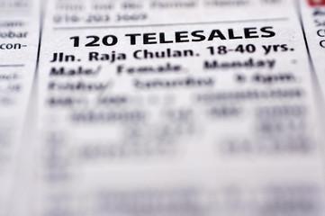 Telesales Job Vacancy