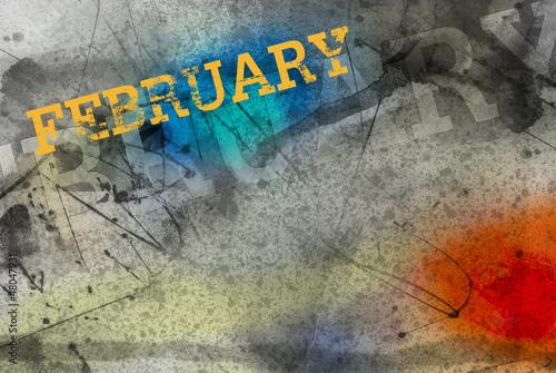 Leinwandbild Motiv february month art grunge design