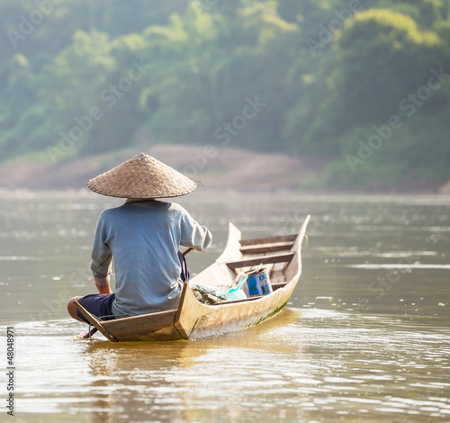 canvas print picture Lao people
