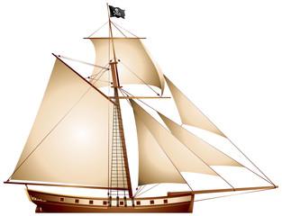Pirate Sailboat Cutter