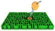 Key, lock, maze