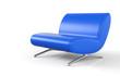 Ergonomischer Designer Sessel Blau