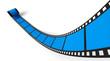 Blanko Filmrolle Blau 01