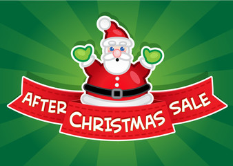 After Christmas Sale Banner / Santa