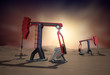 Oil Rig : Pump jack in the desert. 3d image