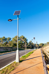 Street Lamp with Solar Panel