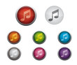 Glossy Web Buttons of Internet Music